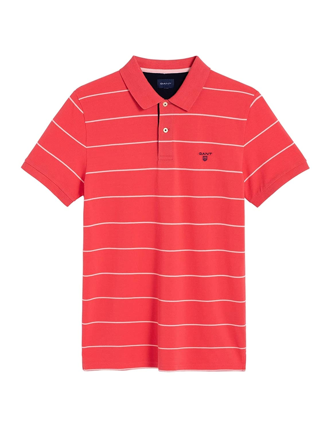 Gant Mens Striped Polo Shirt Red in Size XXX-Large: Amazon.es ...