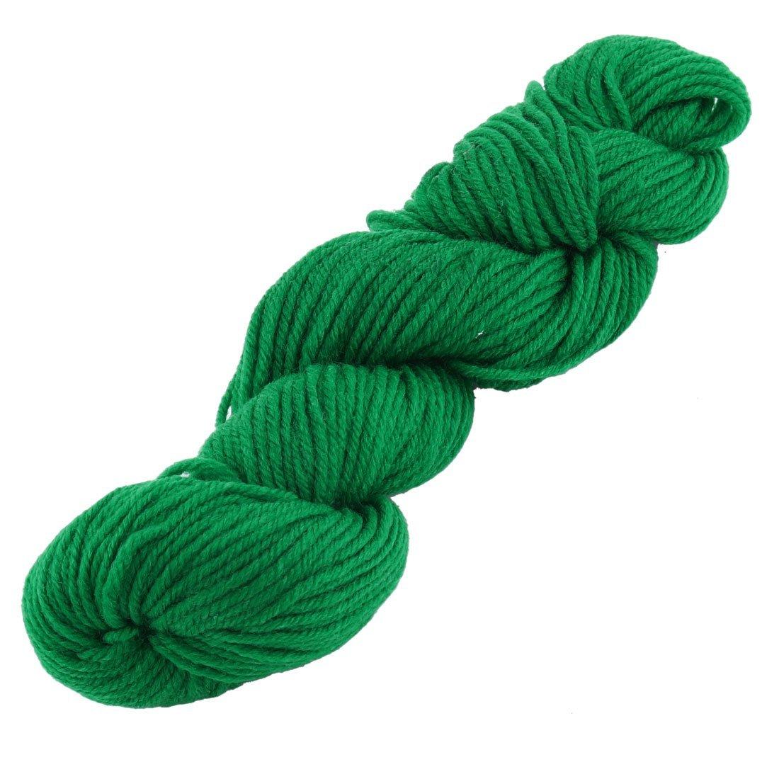 Amazon.com: eDealMax Festival de fibra acrílica Regalo Hecho a Mano de ganchillo suéter de la bufanda el hilado del cordón 60g 2pcs Verde Oscuro