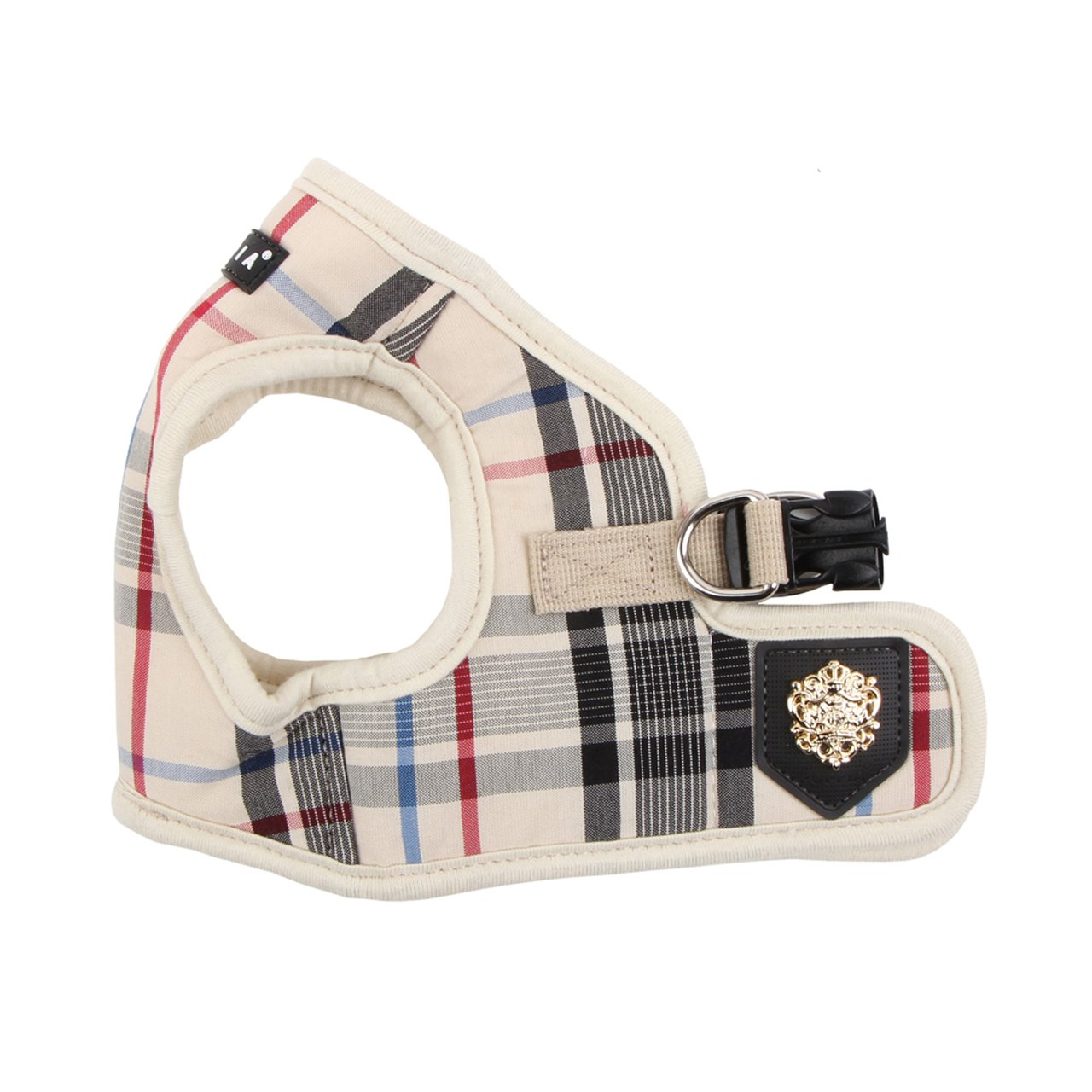 Medium Puppia Authentic Junior Harness B, Medium, Brown
