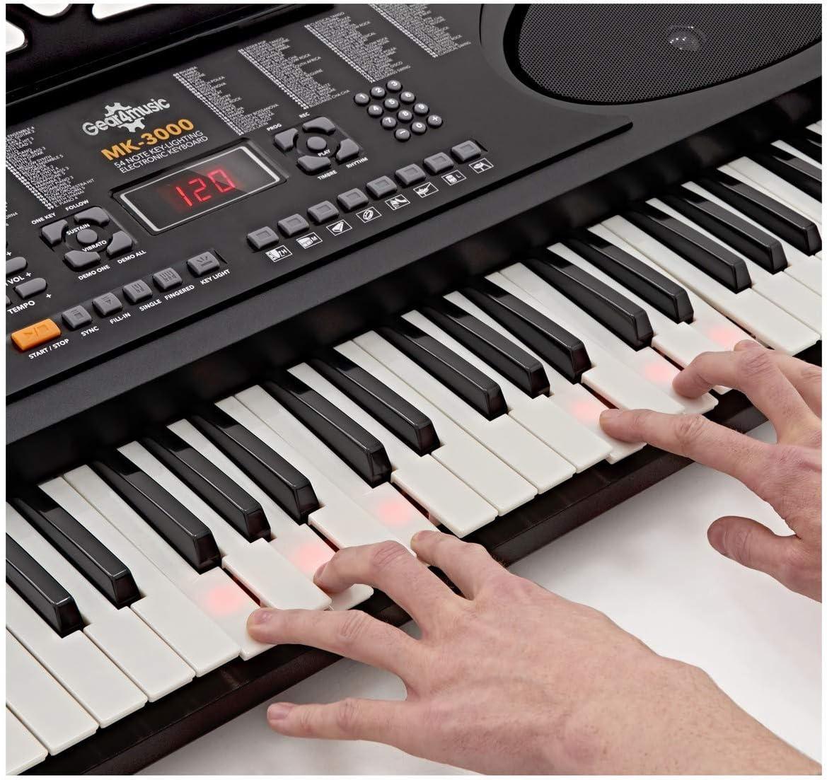Teclado con Teclas Luminosas MK-3000 de Gear4music