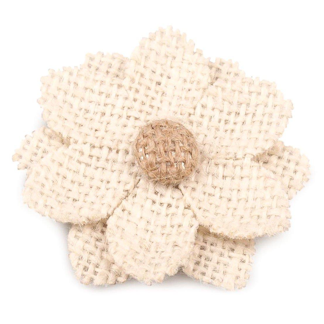 maDDma ® 10 Blüten aus Jute 60mm