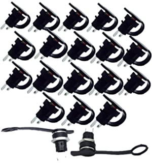 Lsgoodcare 20Pack 5.5 x 2.5 MM DC Power Jack Socket Female Threaded Mount Connector Adapter with