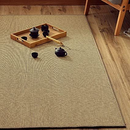 Amazon.com: Aishankra Non Slip Mat Bamboo Weaving Carpet ...