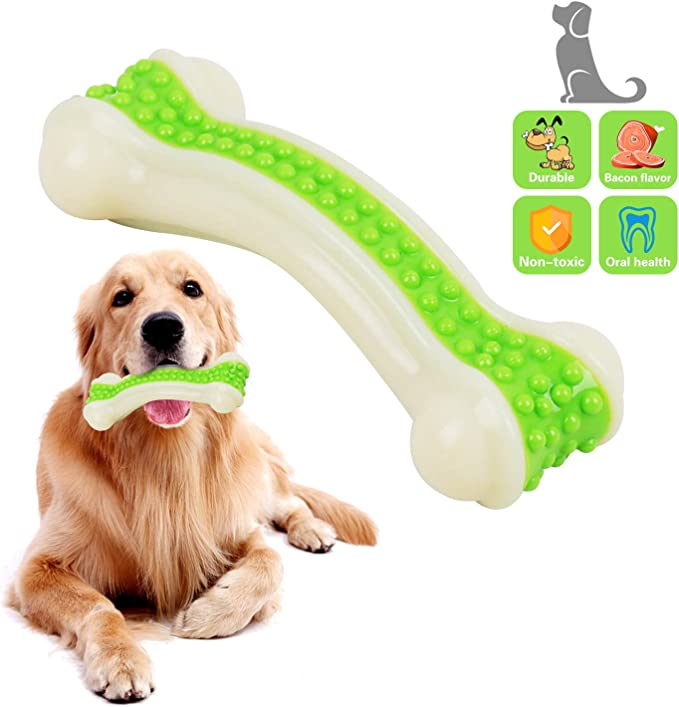 Hswaye Dog Chew Toys for Aggressive Chewers,Food Grade Non-Toxic Dental Pet Toy,Tough Durable Indestructible Dog Toys for Small Medium Large Dogs.