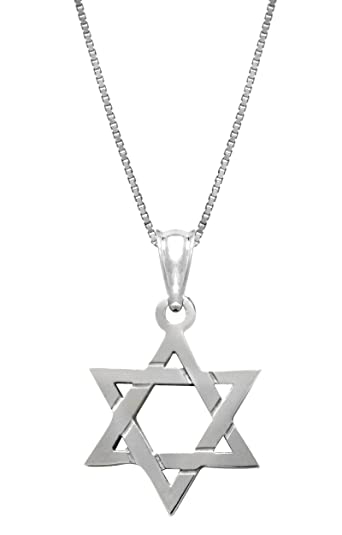 Star Of David Necklace And Pendant With 22 Inch Chain AMmSttJ