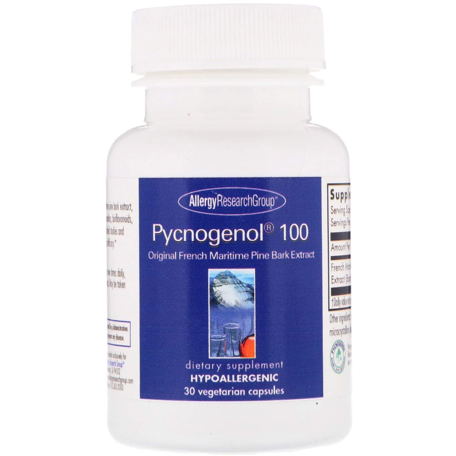Allergy Research Group Pycnogenol 100 30 Vegetarian Capsules