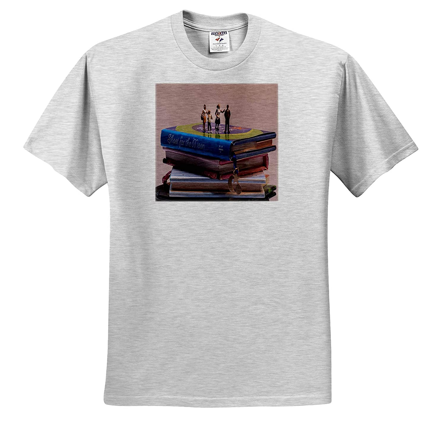 Little People on Books T-Shirts 3dRose Roni Chastain Photography