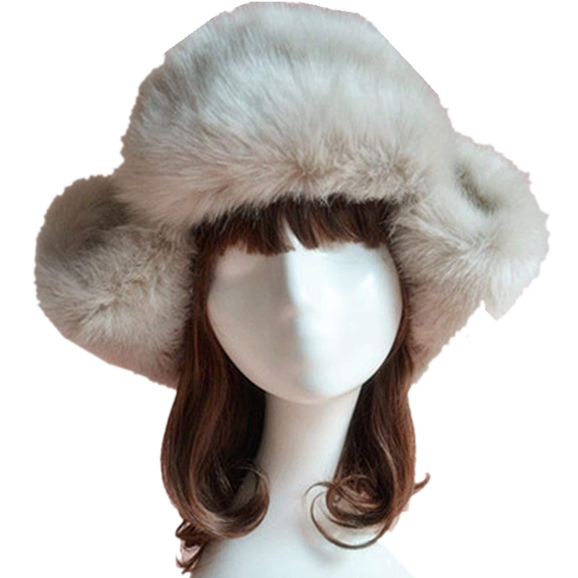 Esqlotres Fashion New Faux Fur Hat Cap For Winter Fuzzy Cap Cold Weather Headbands