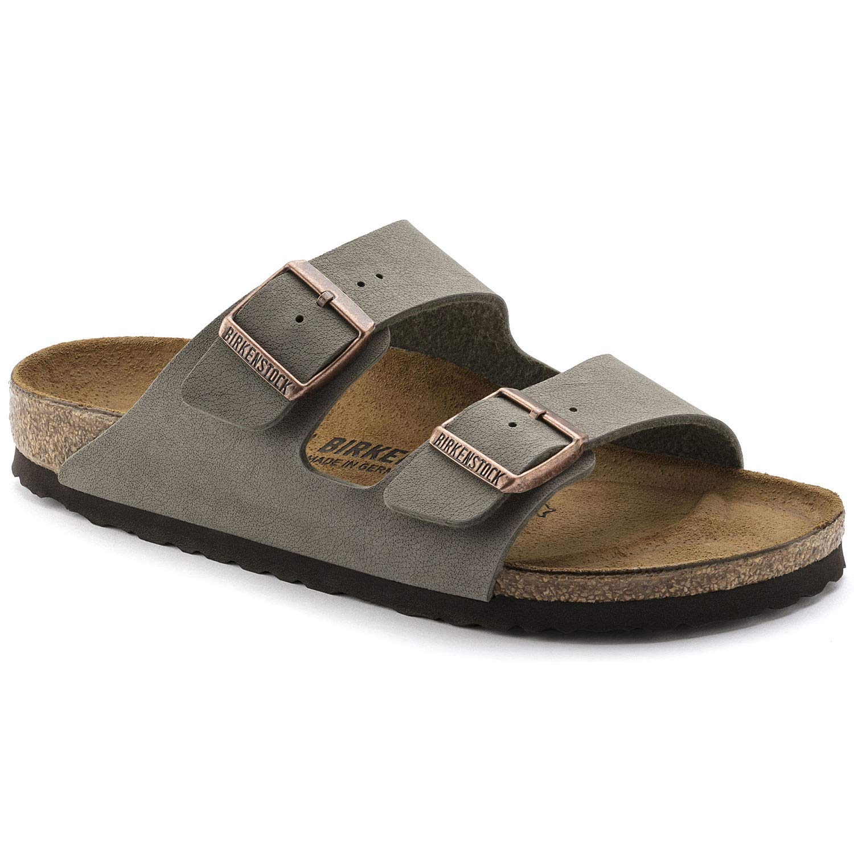 4d58a1db7f9c Birkenstock Arizona 2-Strap Women s Sandals in Stone Birko-Flor (39 N EU -  Narrow)  Amazon.co.uk  Shoes   Bags