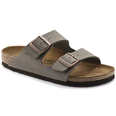 291170d90db5 Birkenstock Arizona 2-Strap Women s Sandals in Stone Birko-Flor (39 N EU -  Narrow)  Amazon.co.uk  Shoes   Bags