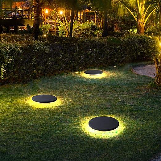 LED alrededor de la lámpara de césped 3000K luz blanca caliente de la lámpara exterior de césped luces jardín luz césped exterior Park patios de iluminación: Amazon.es: Iluminación