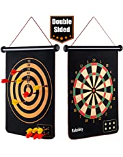 Rollup Magnetic Dart Board for Kids and Adults with 6pcs Safe Darts, Best Toys Gift for Age 4 5 6 7 8 9 10 11 12 Year Old Boys