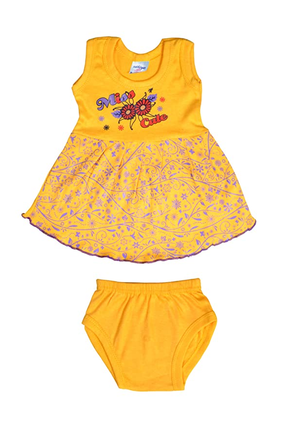 40a1617cc0 Sathiyas Baby Girls Dresses (Pack of 5) (0-3 Months) (Multi2): Amazon.in:  Clothing & Accessories