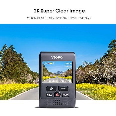 2560 x 1440P, s/úper HD, 2 K, con Soporte para GPS con Ventosa C/ámara para salpicadero VIOFO A119PRO