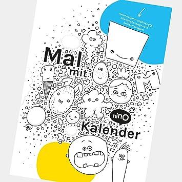 Kreativer Ausmalkalender A3 Für Kinder Immerwährender