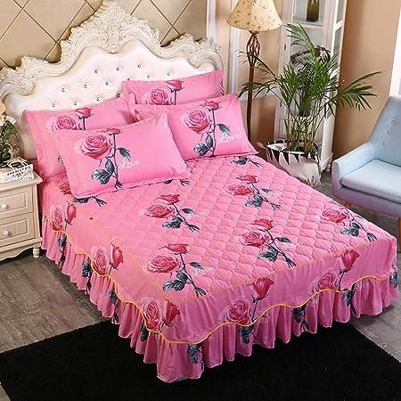 XNSY colchas Cama 150 Invierno Borde de algodón Engrosado Cubierta ...