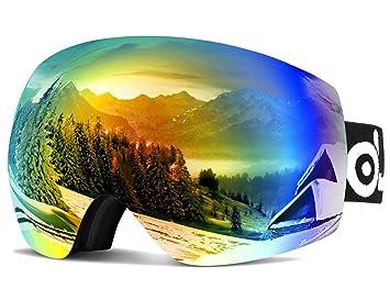 Odoland Lunettes de Ski Masque de Snowboard Frameless Hommes et Femmes -Anti-UV401, 747fa3ade953