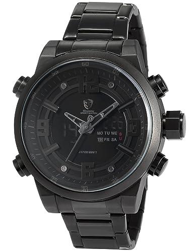 Shark SH343 - Reloj Hombre Cuarzo, Correa de Acero Inoxidable Negro,: Amazon.es: Relojes
