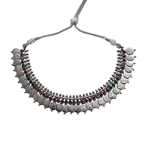 4d1b1ff3c1 Buy Anigalan - Oxidized Silver Plated Spin Choker Necklace for Women  Traditional Oxidised Jewellery Choker Online at Low Prices in India |  Amazon Jewellery ...