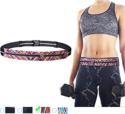 Traveling Gym Perfect for Workout Exercise Premium Fitness Waist Pack Best Fit for Large Phones including iPhone Xs Max // 6//7 // X // 8 plus and Samsung RUNNING BELT Cycling Yoga /& Outdoor
