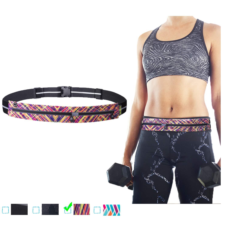 e9a77ca95397 YAHILL Running Belt Waist Pack For Men Women-iPhone x xr Run Belt Fitness  Workout Fanny Pack 2 Pockets,Adjustable Lightweight Bounce Free Fits all ...