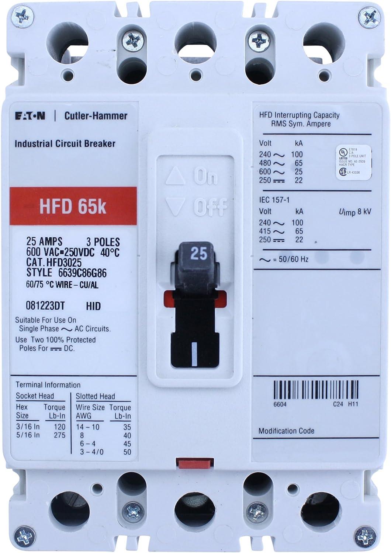 Westinghouse HFD3100 WARRANTY 3 POLE 100 AMP 600 VOLT Circuit Breaker