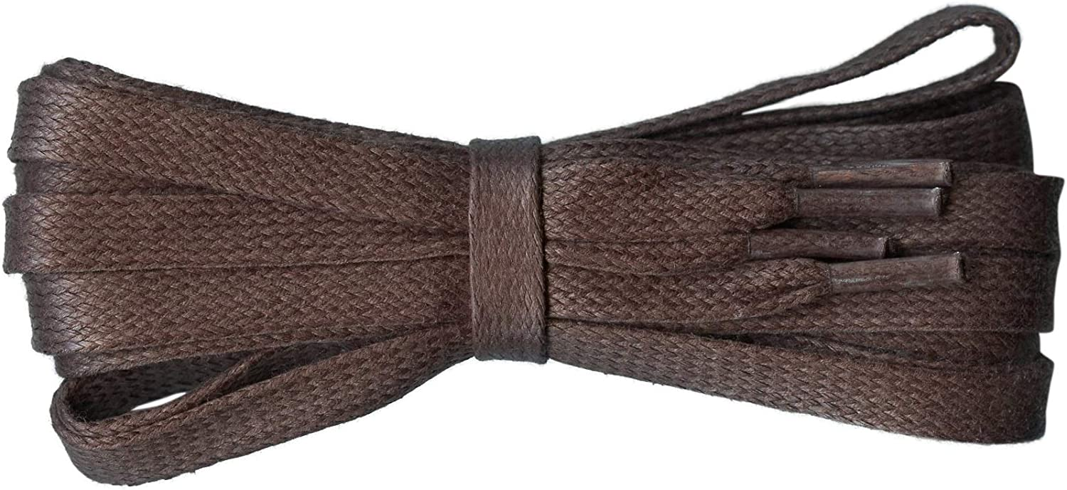 """A New Pair Flat Tan Cotton Waxed Dress Casual Shoelaces 5 mm Laces 30/"""""""
