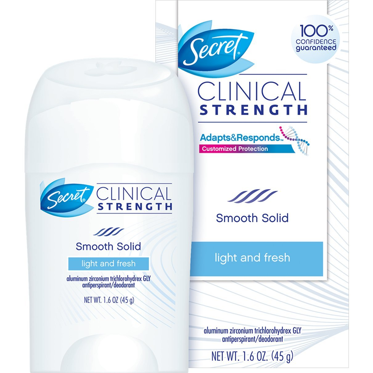 Secret Clinical Strength Soft Solid Antiperspirant and Deodorant, Light and Fresh Scent, 1.6 Ounce (Pack of 3)
