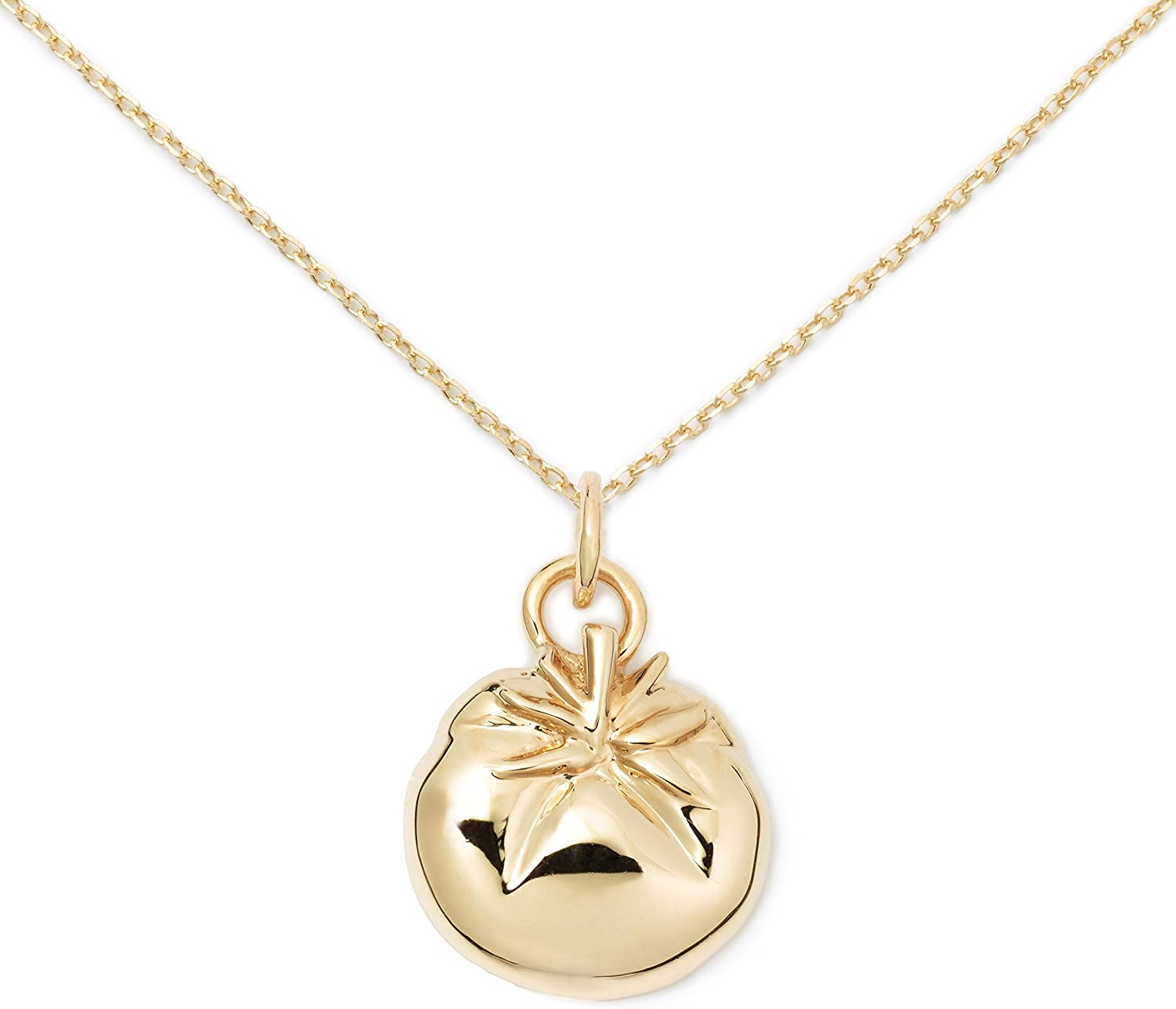 Delicacies 14K Gold Tomato Necklace, Food Jewelry for Food Lovers, Chefs, Cooks and Epicureans