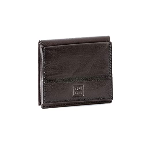0ae8b42cc1fe0 Leather wallet for men 8 card small purse and coin holder DUDU Dark Brown   Amazon.co.uk  Shoes   Bags