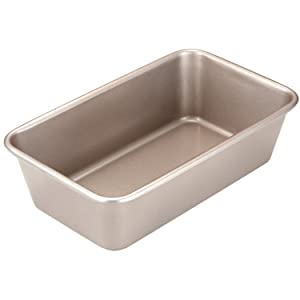 CHEFMADE Loaf Pan, 9-Inch Non-Stick Bread and Meat Bakeware, FDA Approved for Oven Baking (Champagne Gold)
