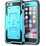 Cover iPhone 6, i-Blason Apple Cover iPhone 6 4.7 pollici Custodia armatura a doppio strato protezione completa con Cover fronte e protezione salvaschermo integrata /Bumper resistente per iPhone 6 (Blue)