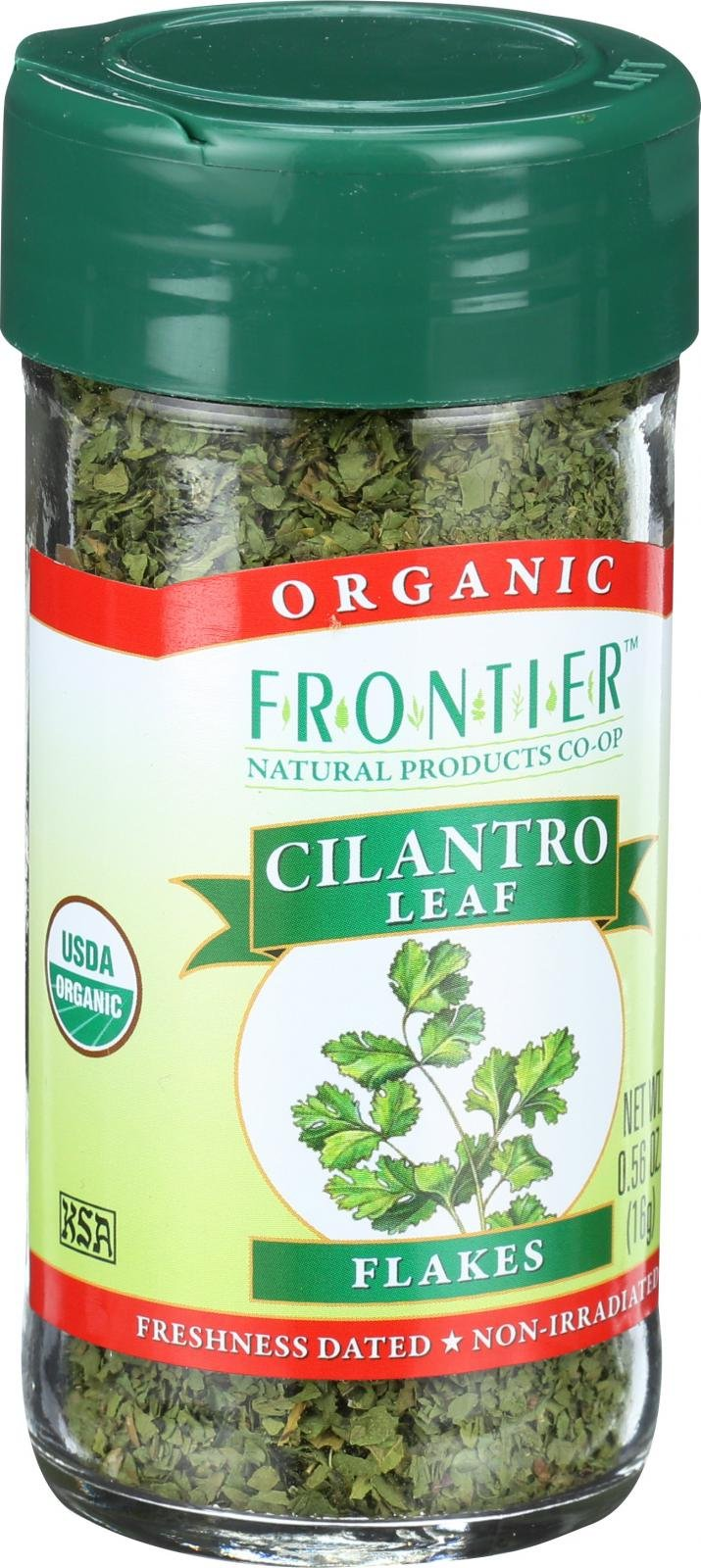 Frontier Herb Cilantro Leaf - Organic - Cut and Sifted - 0.56 oz - 95%+ Organic - Kosher by Frontier (Image #1)