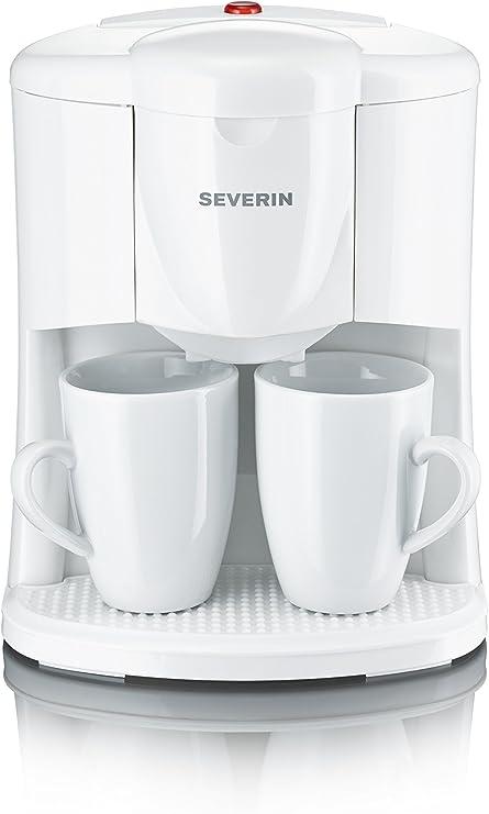 Severin 9213 - Cafetera 2 Tazas Filtro Permanente Blanca: Amazon.es: Hogar