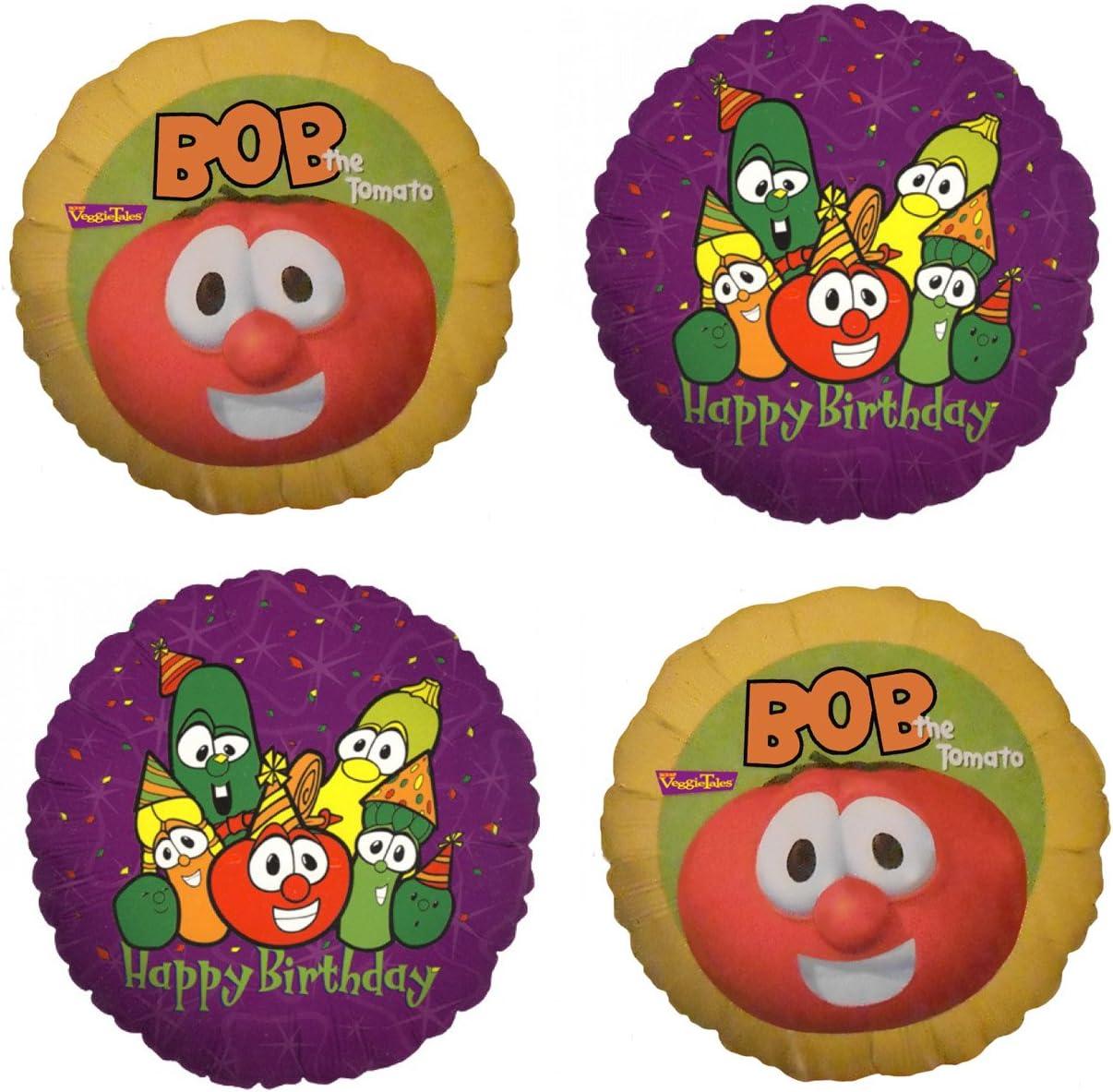Outstanding Amazon Com 4 Veggie Tales Mylar Birthday Balloons Toys Games Personalised Birthday Cards Veneteletsinfo