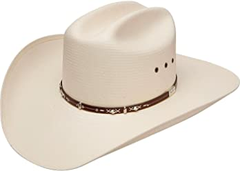2934571e511 Resistol Men s George Strait Hazer 10X Shantung Straw Cowboy Hat