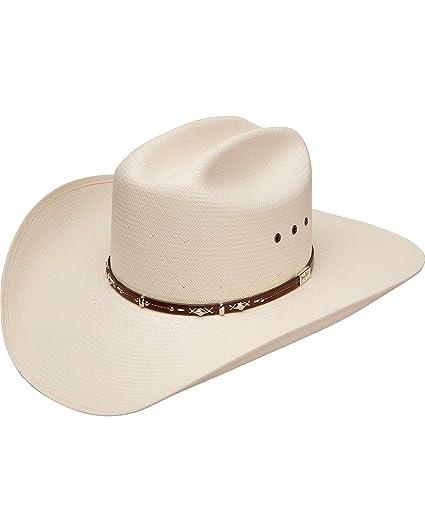 c5f9bdd0ac8 Resistol Men s George Strait Hazer 10X Shantung Straw Cowboy Hat Natural 6  ...