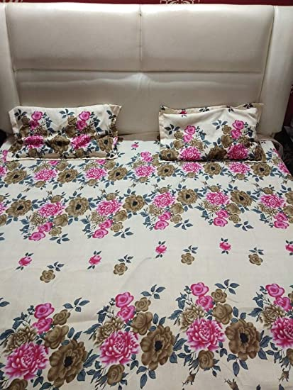 Singhal Selection Double Bed Cotton Printed King Size Bed Sheet In