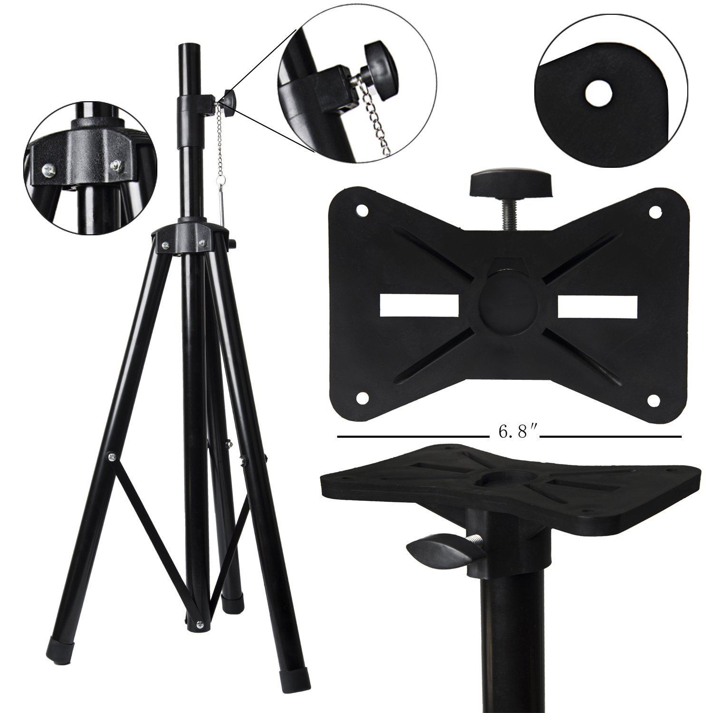 Speaker Stand W/Adjustable Height & Locking Knob & Pin - Fits Speakers w/ 1-3/8'' & 1-1/2'' Sockets