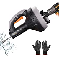 Desatascador de Desagües, TACKLIFE 7,5m Limpieza de desagües, Diámetro de 7mm adecuado para tubos de 19-51mm, ideal…