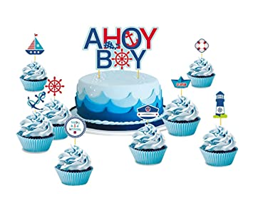 Sunbeauty Maritime Torte Toppers Babyparty Geburtstag Kuchen