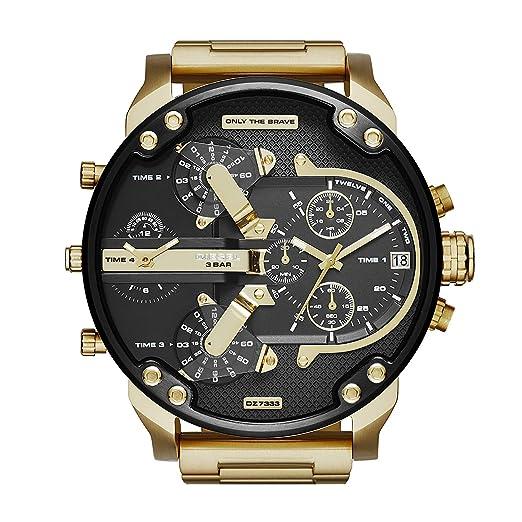 Reloj Diesel analógico de cuarzo para hombre, de acero inoxidable dorado: Amazon.es: Relojes