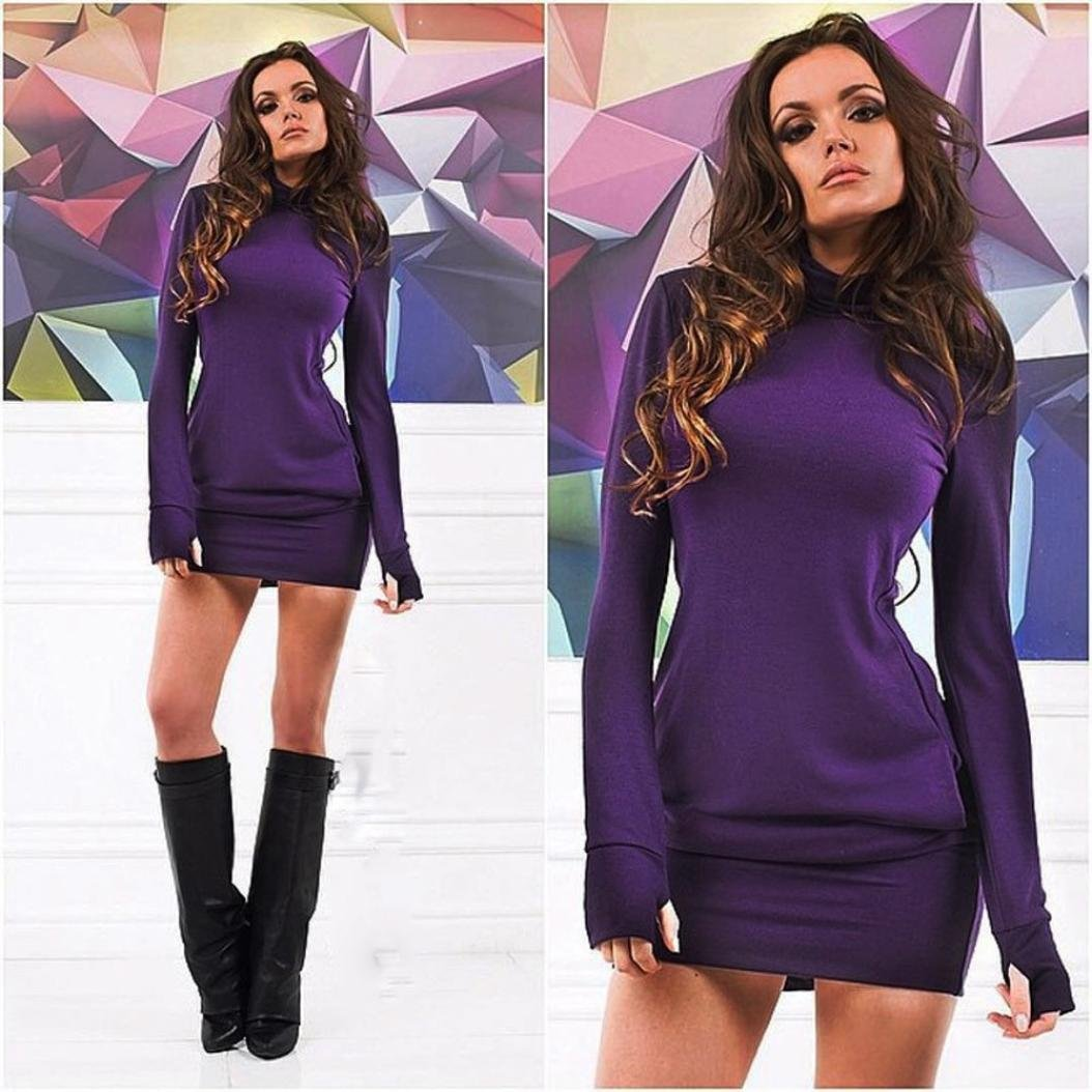 Vestido de mujer otoño invierno Amlaiworld Mini vestido corto de ...