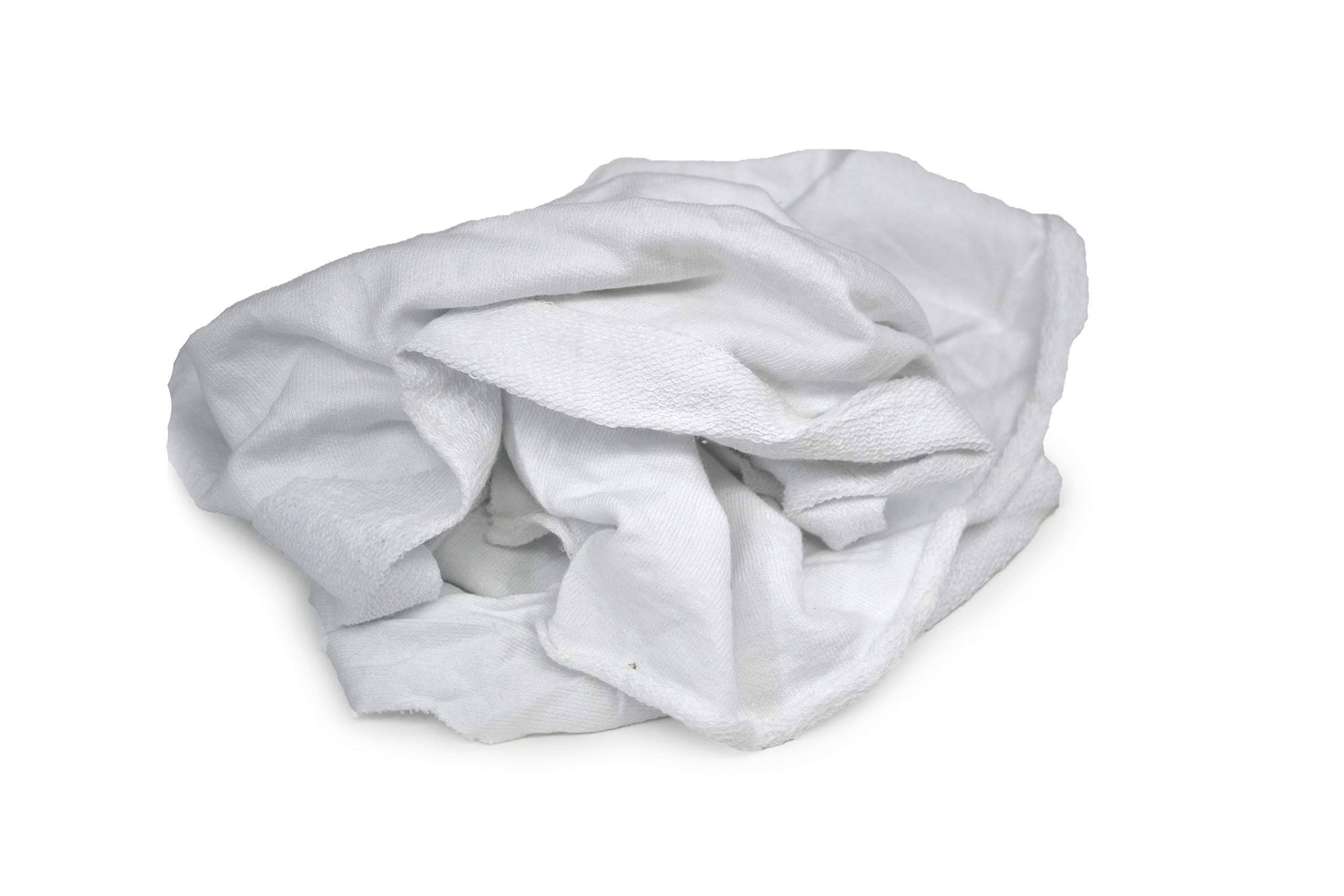 Tuf-Clean 99302 T-Shirt Knit Rags, 100% Cotton, White, 50 lb Box by Tuf-Clean (Image #2)