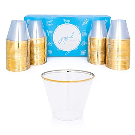 Review 120 Gold Plastic Cups