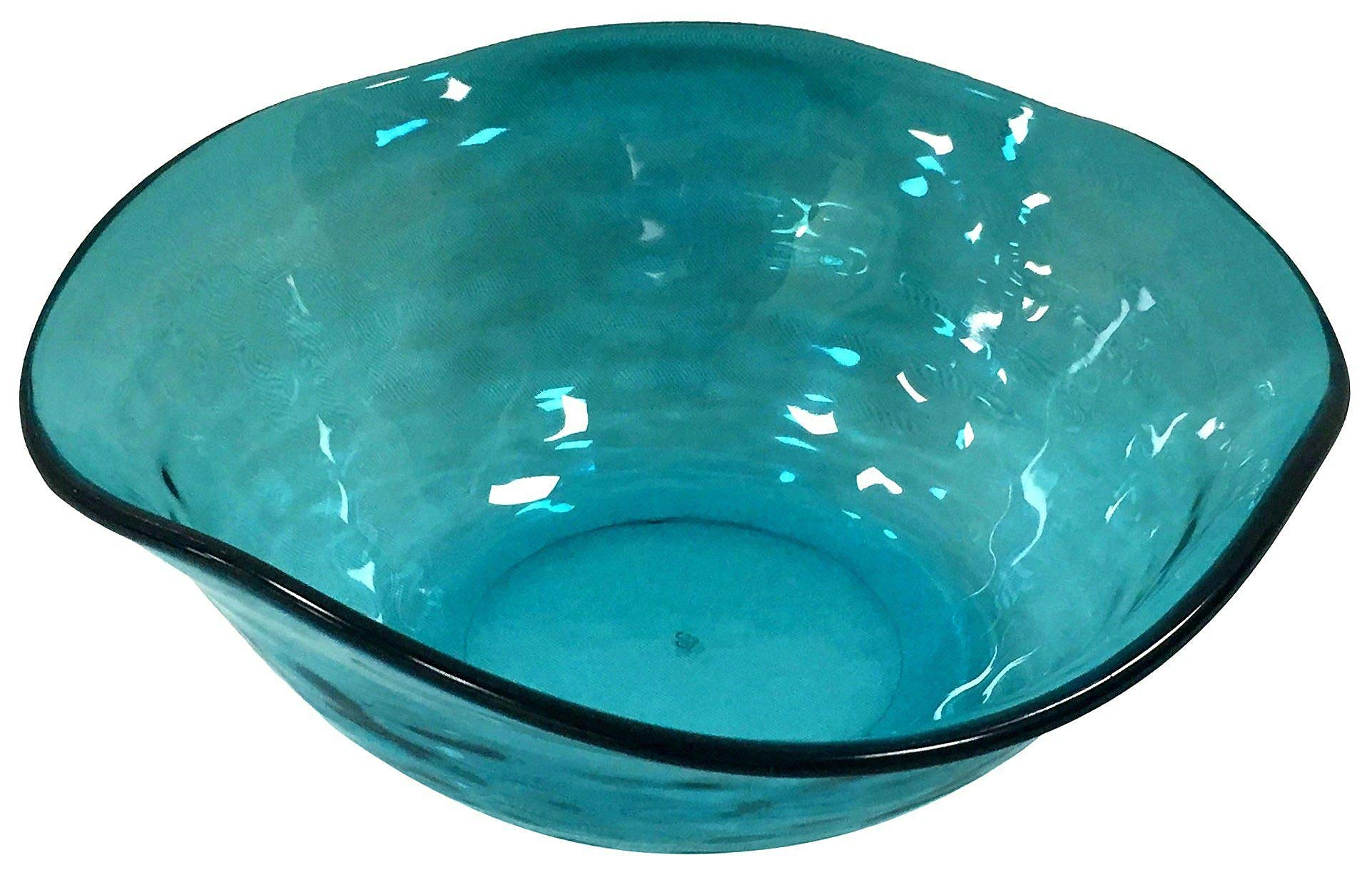 Coastal Home Embossed Shells Small Wavy Bowl One Size Turquoise