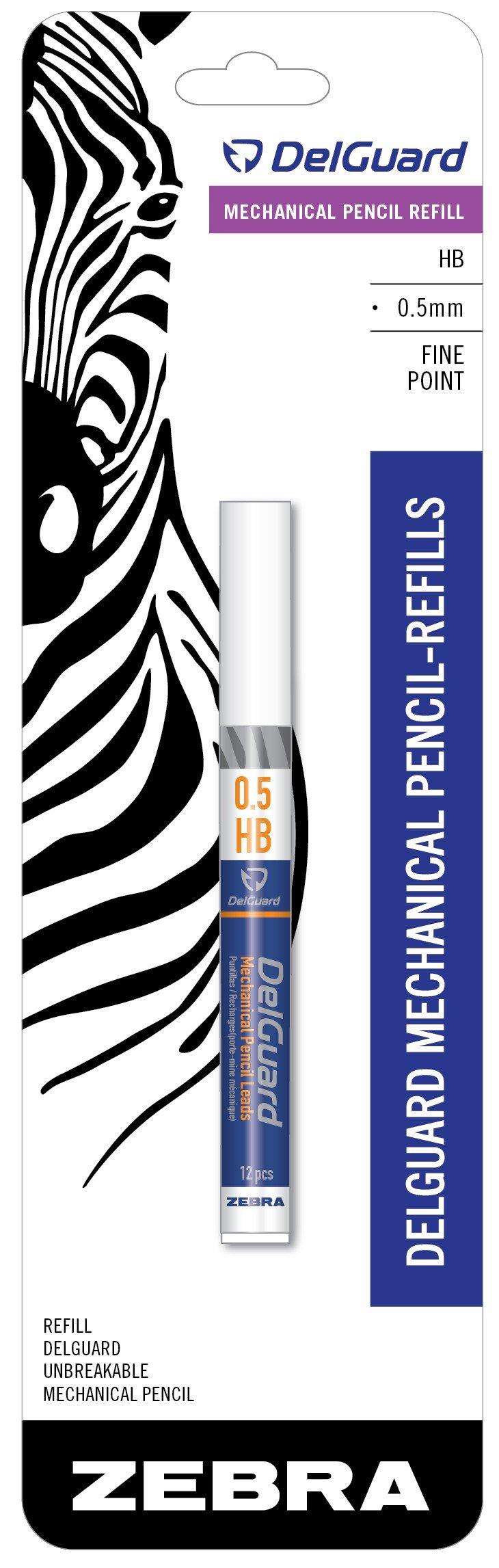 Zebra Delguard Lapiz Mecanico Hb#2 Lead Refills 5-count