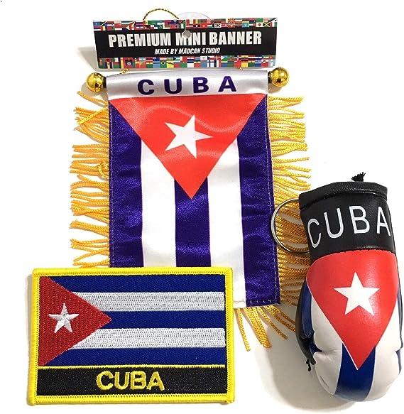 Bandera de Cuba para Auto, 3 Piezas, Accesorios para automóvil, Cubano, Cubano, Cubano, Parche de Bandera Cubana: Amazon.es: Juguetes y juegos