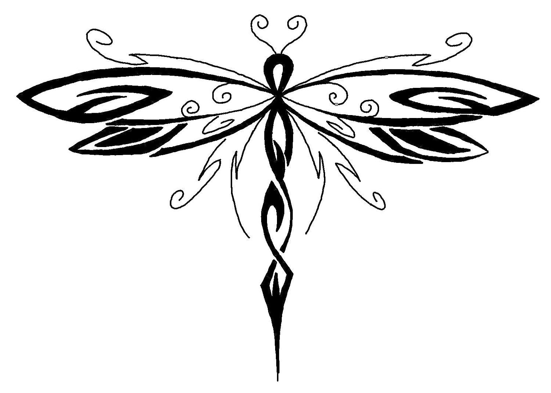 Tatuajes tribales de libelulas, etiquetas engomadas de vinilo ...