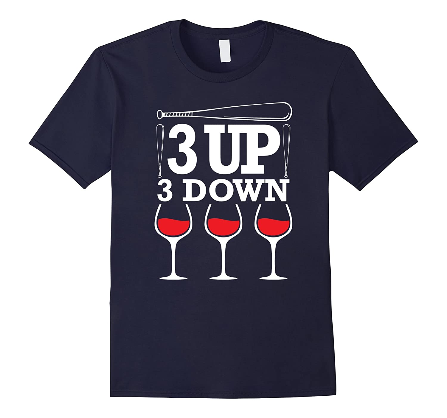 3 up 3 down T shirt Baseball Mom T-Shirt-CD